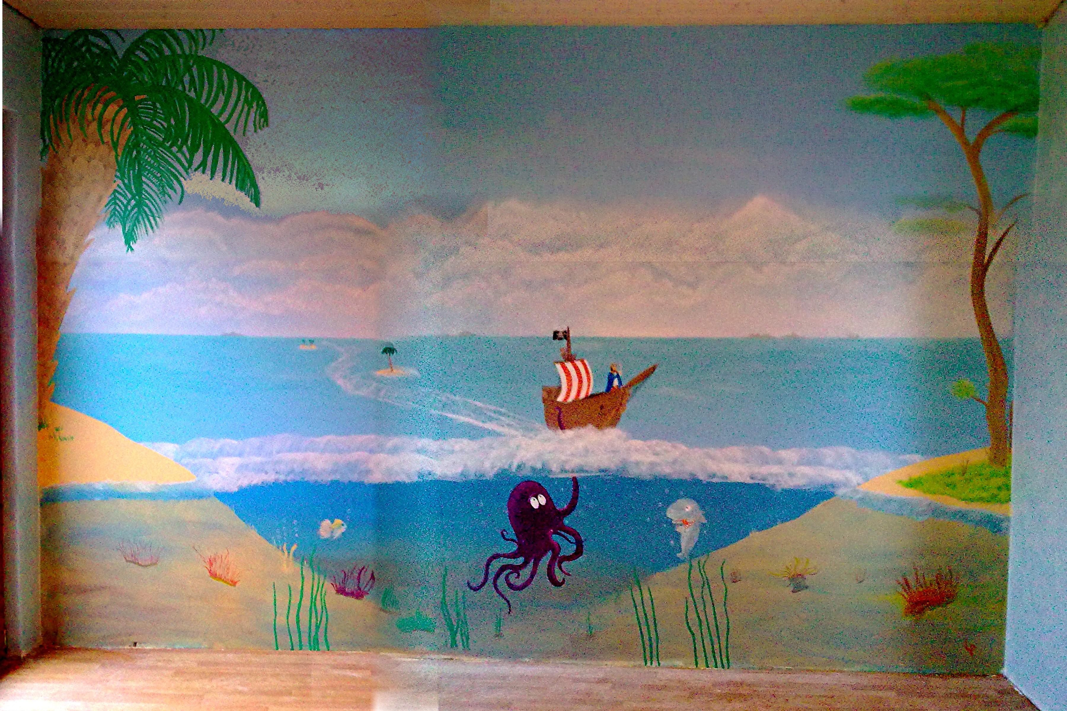 Erfreut Kinderzimmer Pirat Wandgestaltung Fotos - Die Designideen ...